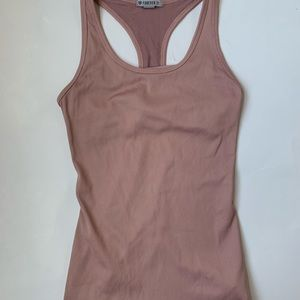 Forever 21 blush workout tank with built in bra